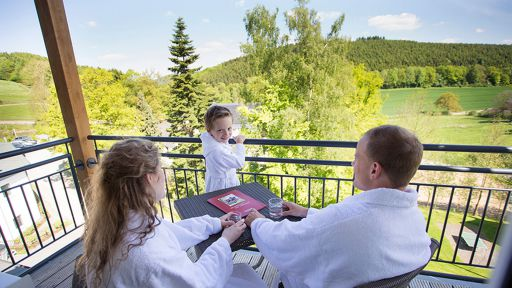 Einen atemberaubender Ausblick im Familotel Ebbinghof genießen.