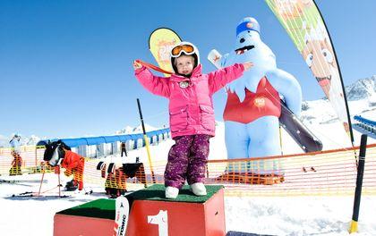 Gletscher Skigaudi im Frühling