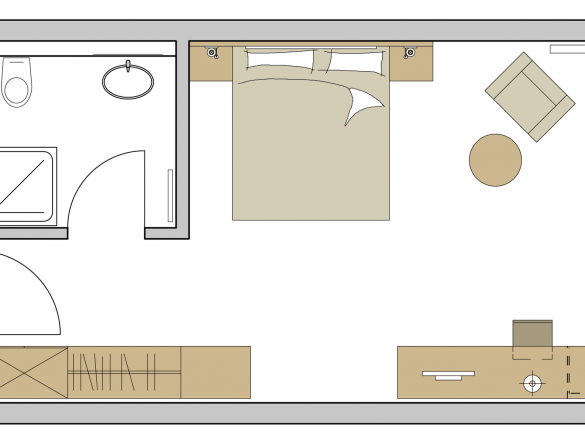Doppelzimmer Exklusiv Grundriss #1