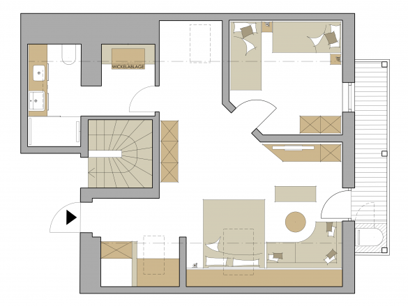 """Family-Suite Schreinerhof """"Studio"""" Grundriss #1"""