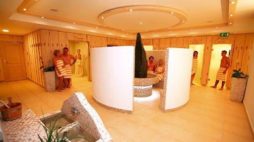 Genießen Sie die Finnische Sauna, die Zirben-Sauna und das Tauchbecken im Familotel Petschnighof in Kärnten.