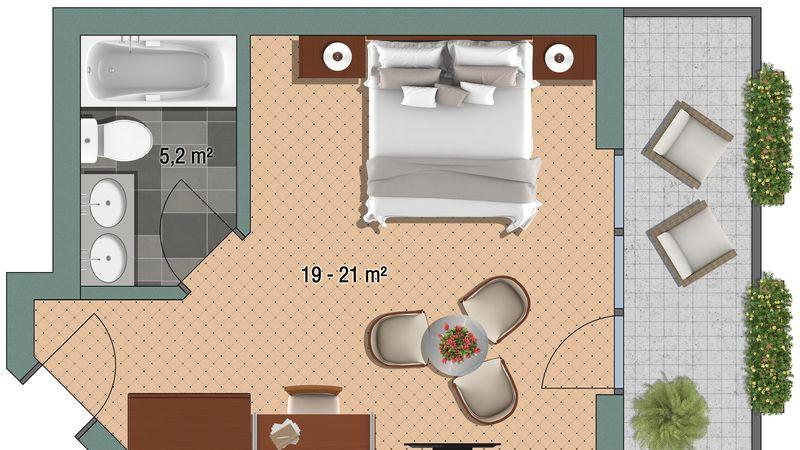 "Doppelzimmer Doppelzimmer ""Eggishorn"""