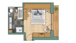 """chambres doubles Chambre double """"Nordend"""" Confort"""