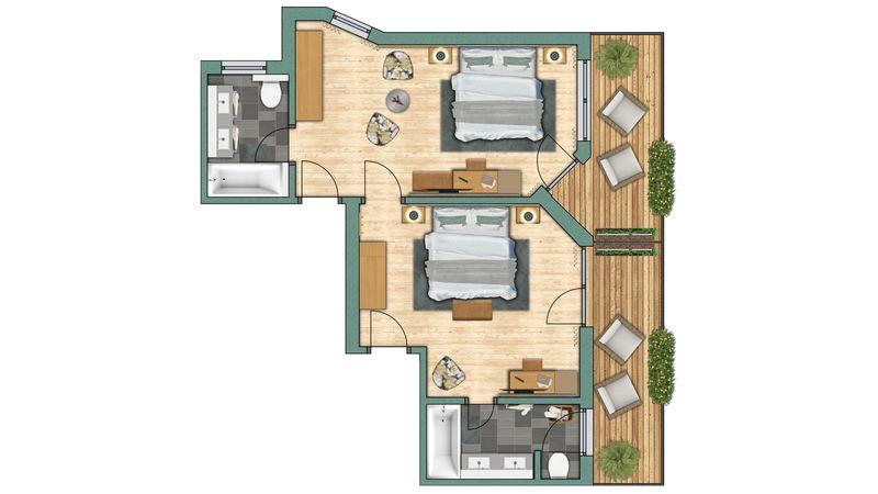 """apartments Apartment """"Dufourspitze"""""""