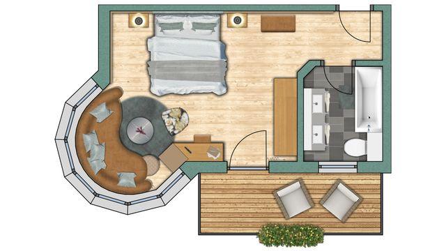 """Bay Window Room """"Fletschhorn"""""""
