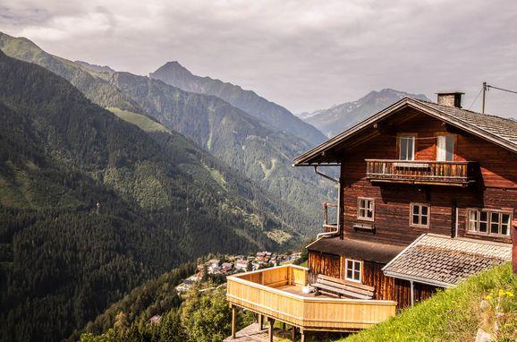 Sommer, Bauernhaus Brandberg in Mayrhofen, Tirol, Tirol, Österreich