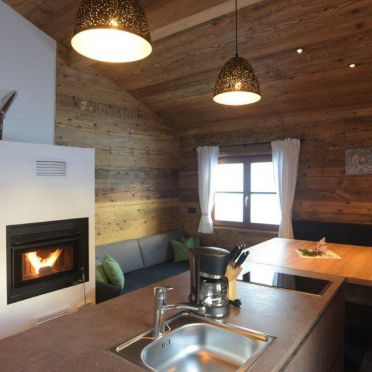 Livingroom, Ausserhof Hütte, Weissenbach, Südtirol, Alto Adige, Italy