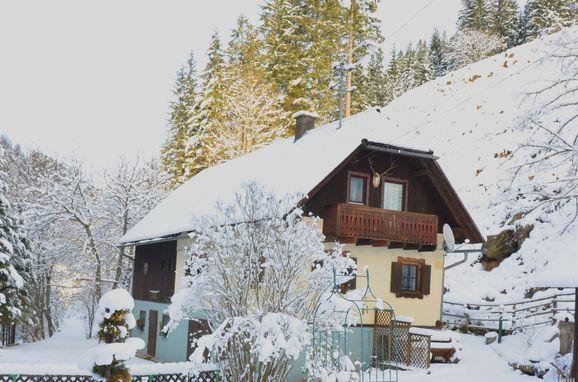 Winter, Sagmeister Hütte in Reichenfels, Kärnten, Kärnten, Österreich