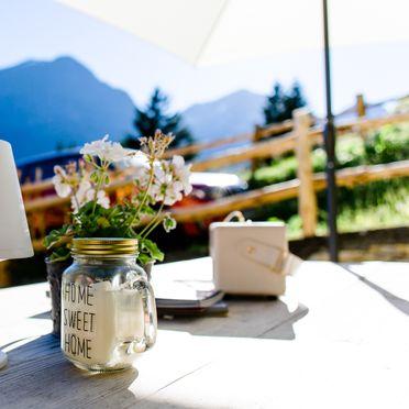 terrace, Tröglesalm in Matrei, Tirol, Tyrol, Austria