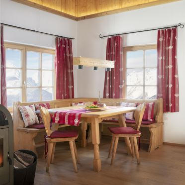 Dining area with oven, Chalet Friedenalm, Pill, Tirol, Tyrol, Austria