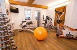 Biohotel Schratt: Fitnessraum - Berghüs Schratt, Oberstaufen-Steibis, Allgäu, Bayern, Deutschland