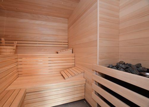 Biohotel Schratt: Sauna - Berghüs Schratt, Oberstaufen-Steibis, Allgäu, Bayern, Deutschland