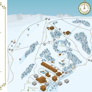 Lageplan Winter, Bachgut Luxus Suite A, Saalbach-Hinterglemm, Salzburg, Salzburg, Österreich