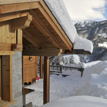 Winter, Bergchalet Wolfskofel  in St. Johann im Ahrntal, Südtirol, Trentino-Südtirol, Italien