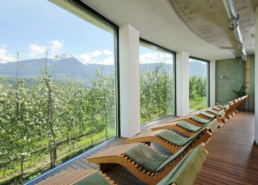 Biohotel Pazeider: Ruheraum Aussicht Wellness - Bio- und Wellnesshotel Pazeider, Marling bei Meran, Trentino-Südtirol, Italien