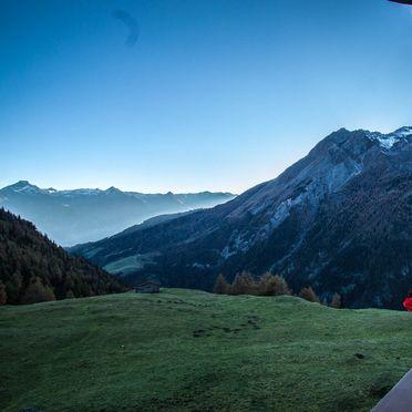 View, Almhütte Hoanza in Matrei , Tirol, Tyrol, Austria