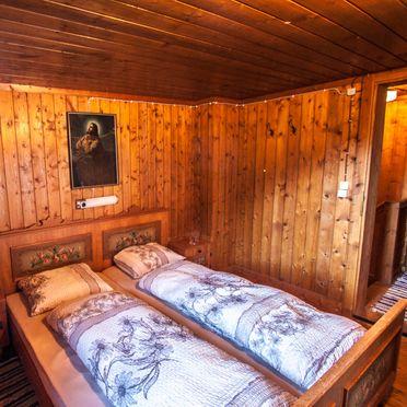 Schlafzimmer, Almhütte Hoanza, Matrei in Osttirol, Tirol, Tirol, Österreich