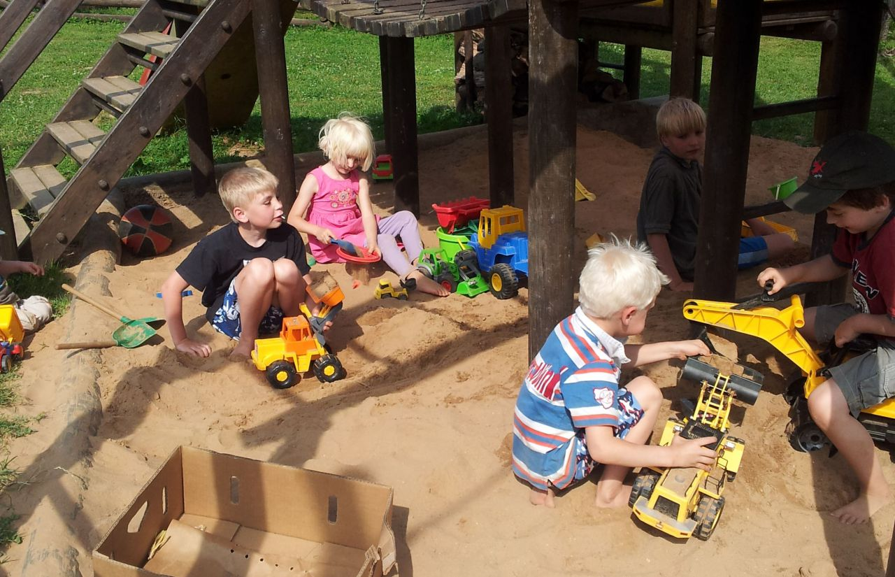Sandkasten des Kinderhotel Mosel-Saar