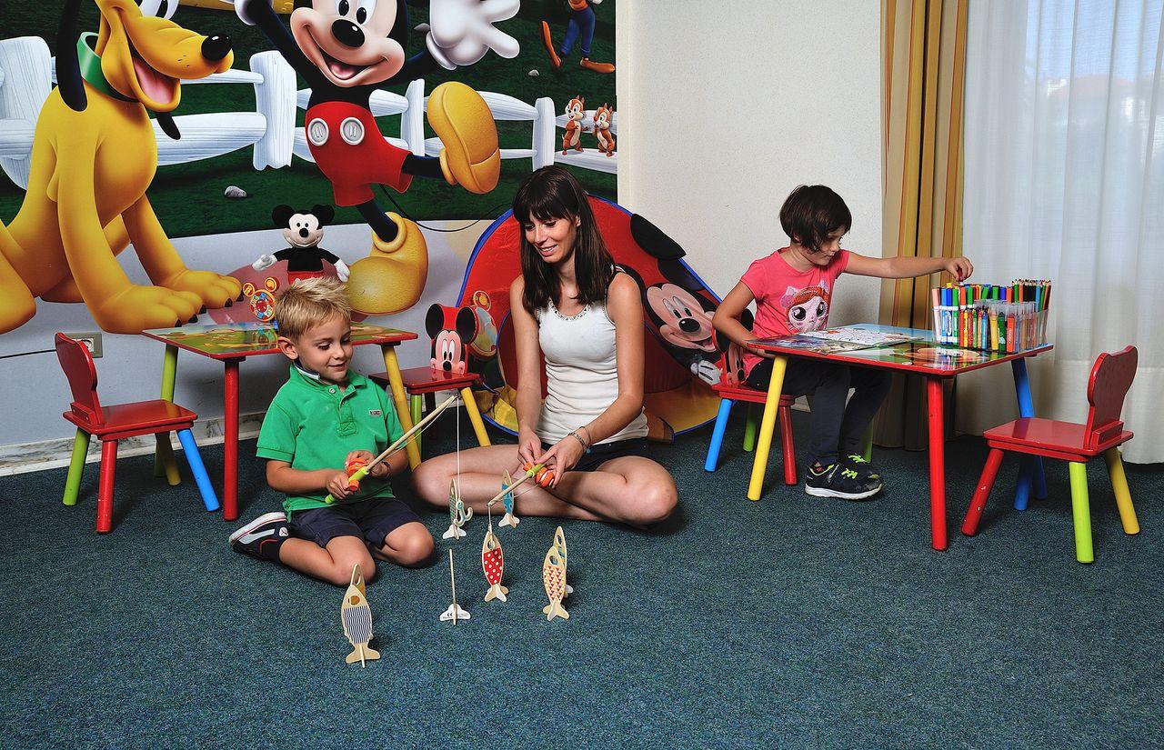 Spielzimmer des Familienhotel Raffy