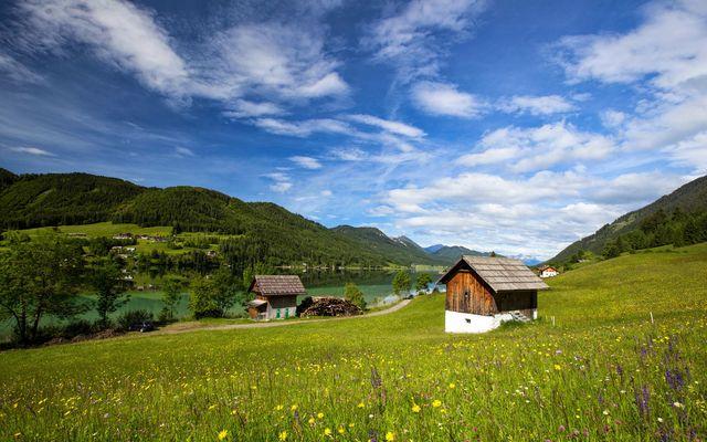 Wandern unweit des Biohotels am Weissensee