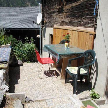 Hütte Pfunds, Terrasse