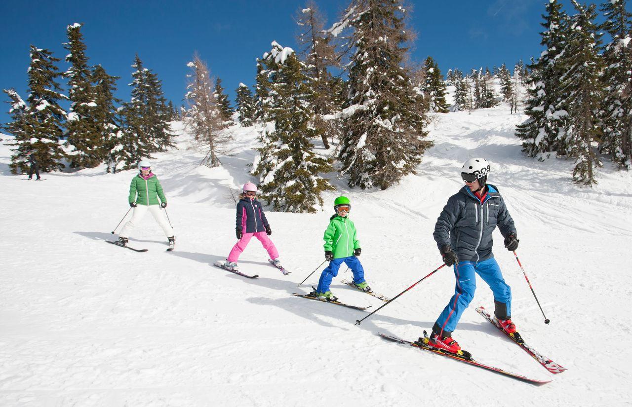 Familien-Skifahren in Kleinarl
