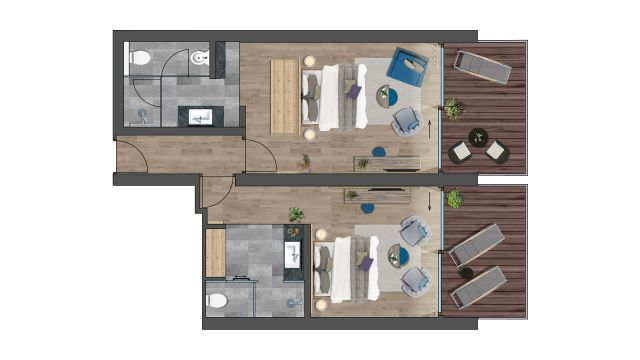 Grundriss Grand Family Suite
