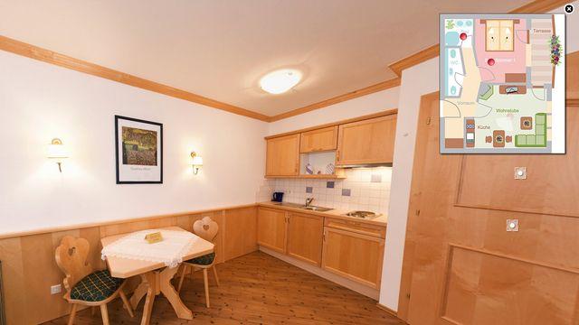 """2-Raum Appartement """"Zillertal"""" (53 m²)"""