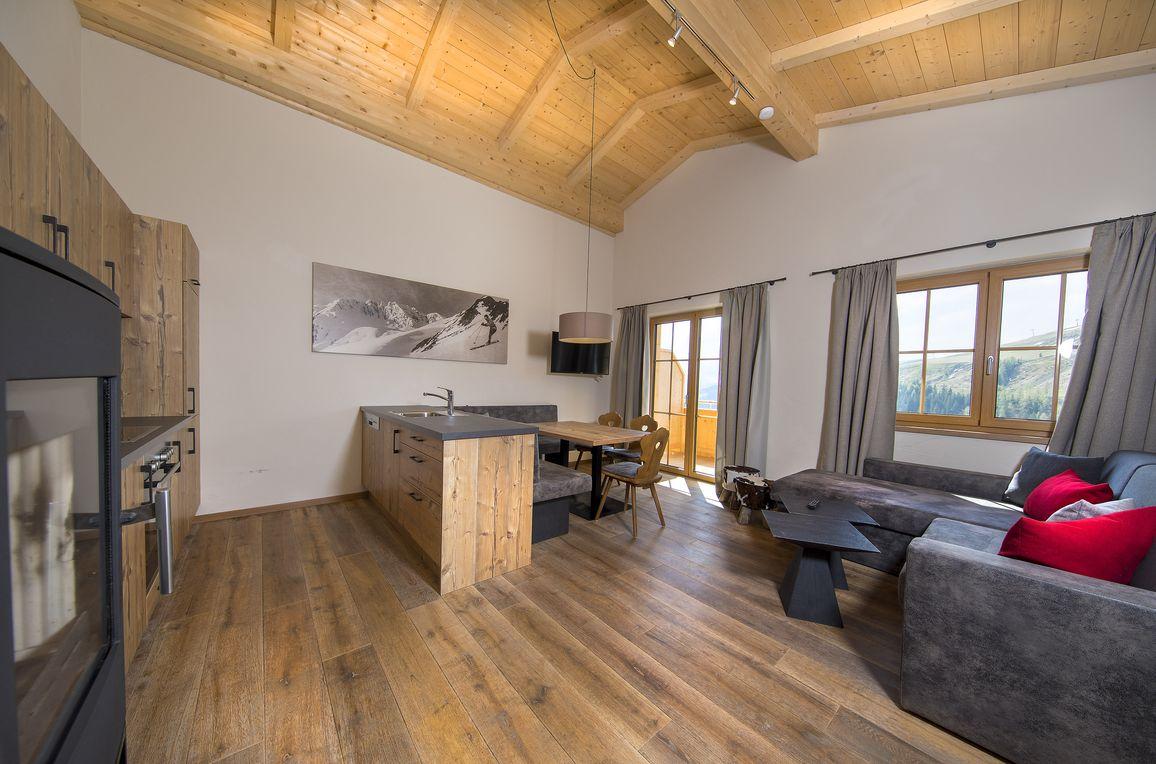 Chalet Rettenstein, living-kitchen-area