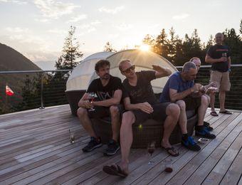 Biohotel Steineggerhof Dachterrasse Sonnenuntergang