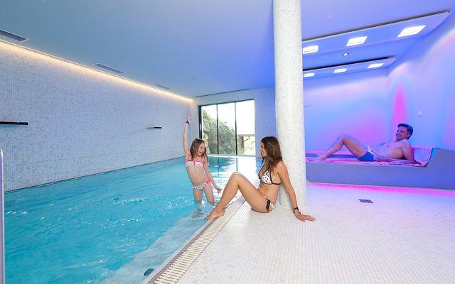 Wellnessbereich auf 3 Etagen im Familienhotel Flachau