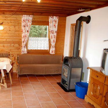 Wohnstube mit Schwedenofen, Langhans Hütte 2 in St. Gertraud - Lavanttal, Kärnten, Kärnten, Österreich