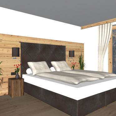 Visualisierungsbild Schlafzimmer, Alpenhoamatl in Ginzling-Mayrhofen, Tirol, Tirol, Österreich