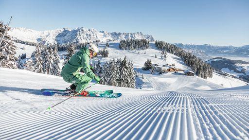 Das Skigebiet Sudelfeld mit 31 Pistenkilometern ist eingebettet in die wunderschöne Wendelsteinregion.