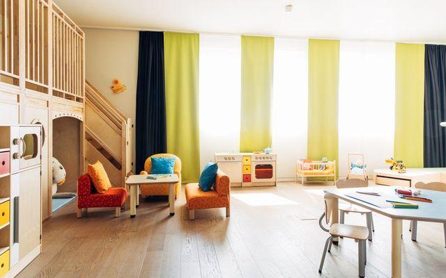 Spielzimmer in harry's home Familienhotel München Moosach