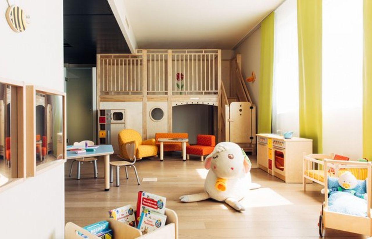 45 Quadratmeter großes Spielzimmer, geplant von den Kinderhotels