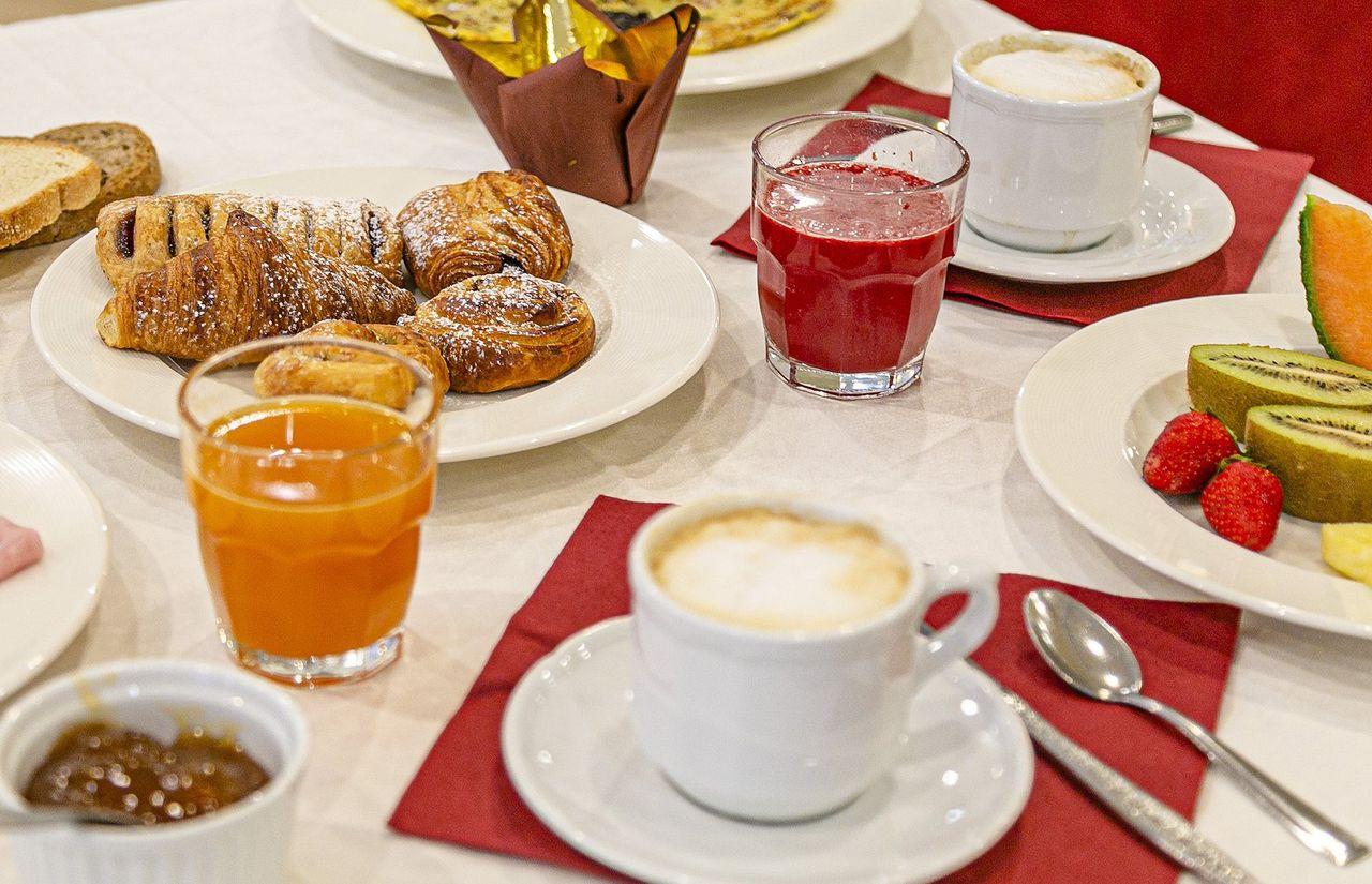 Frühstück im Restaurant
