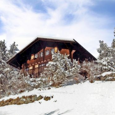 Außen Winter 12, Chalet Jungfrau an der Ledi, Wengen, Berner Oberland, Bern, Schweiz