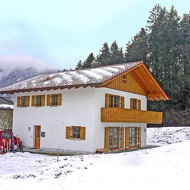 Außen Winter 23, Ferienchalet Schwänli in Oberammergau, Oberammergau, Oberbayern, Bayern, Deutschland