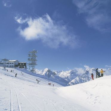 Innen Winter 35, Jagdhütte Biedenegg im Oberinntal, Region Tirol West/Fliess/Landeck, Oberinntal, Tirol, Österreich
