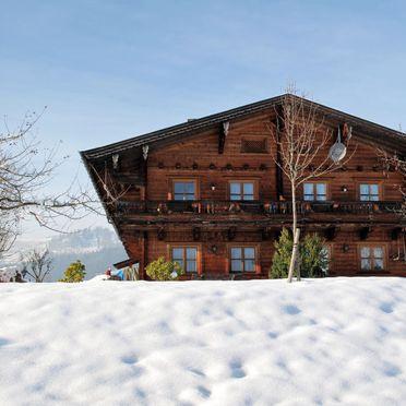 Außen Winter 17, Ferienhütte Marianne in Oberbayern, Reit im Winkl, Oberbayern, Bayern, Deutschland
