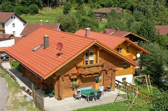 Außen Sommer 1 - Hauptbild, Ferienhütte Schachtenbach im Bayerischen Wald, Bayerisch Eisenstein, Bayerischer Wald, Bayern, Deutschland