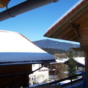 Außen Winter 17, Ferienhütte Schachtenbach im Bayerischen Wald, Bayerisch Eisenstein, Bayerischer Wald, Bayern, Deutschland