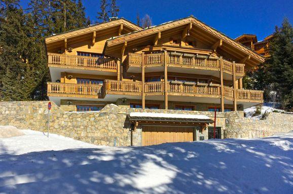Außen Winter 63, Luxuschalet Chanson im Wallis, Crans-Montana, Wallis, Wallis, Schweiz