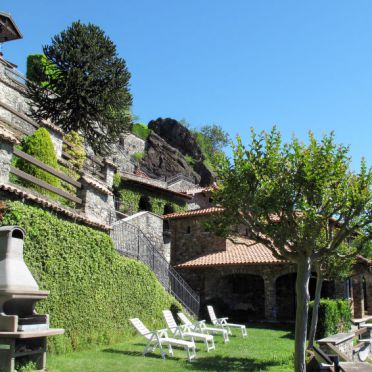 Außen Sommer 4, Villa Bellavista, Dongo, Comer See, Lombardei, Italien