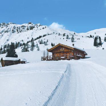 Außen Winter 26, Chalet Baita Medil, Moena, Fassa Valley, Trentino-Südtirol, Italien