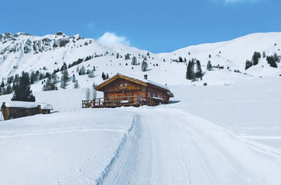 Außen Winter 24 - Hauptbild, Chalet Baita Medil, Moena, Dolomiten, Trentino-Südtirol, Italien