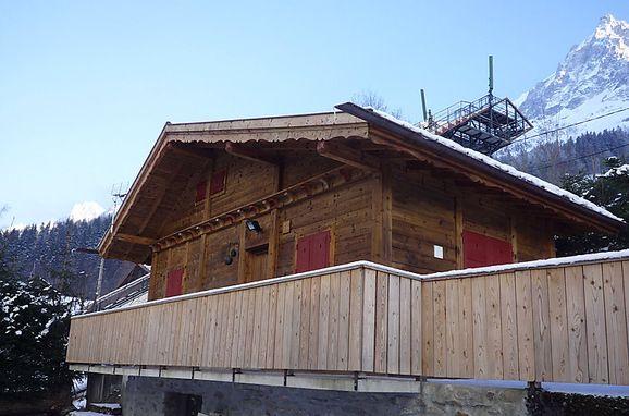 Außen Winter 18, Chalet Evasion, Chamonix, Savoyen - Hochsavoyen, Auvergne-Rhône-Alpes, Frankreich