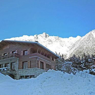 Außen Winter 29, Chalet Malo, Chamonix, Savoyen - Hochsavoyen, Auvergne-Rhône-Alpes, Frankreich