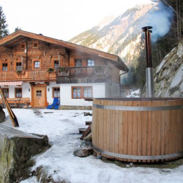 Außen Winter 25, Chalet Gais, Mayrhofen, Zillertal, Tirol, Österreich